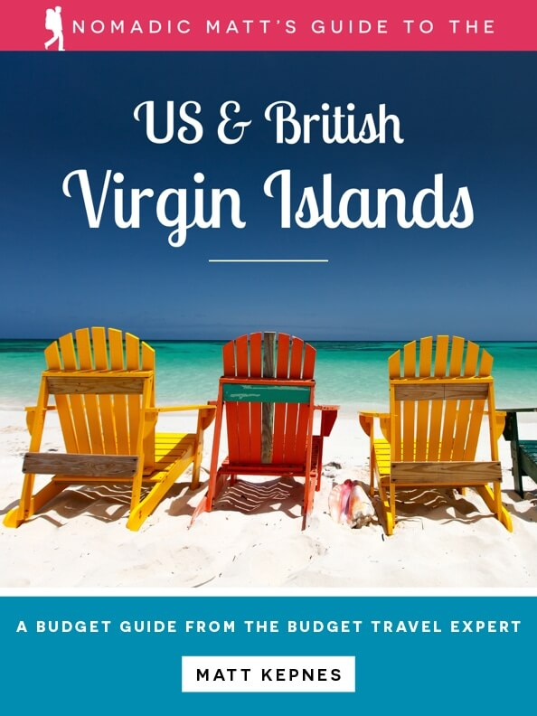 guidebook cover for the nomadic matt guide to the virgin islands