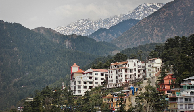 a beautiful building in the Himalayas