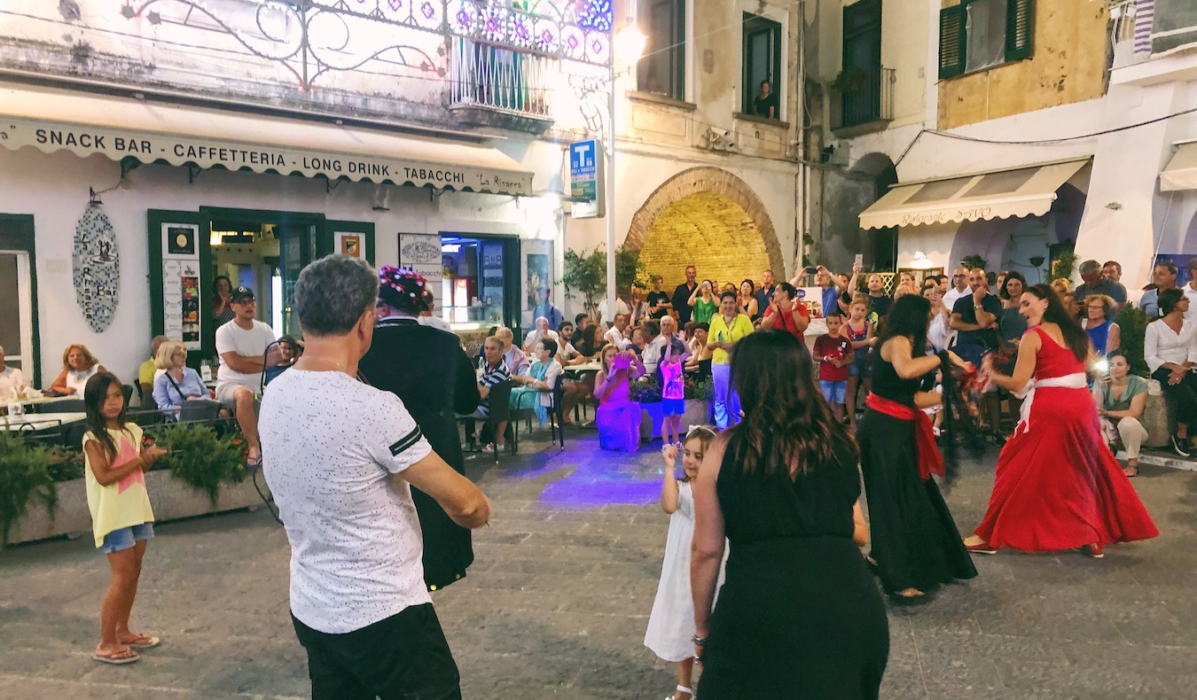 a typical Festival on the Amalfi Coast celebrating the dance in italy