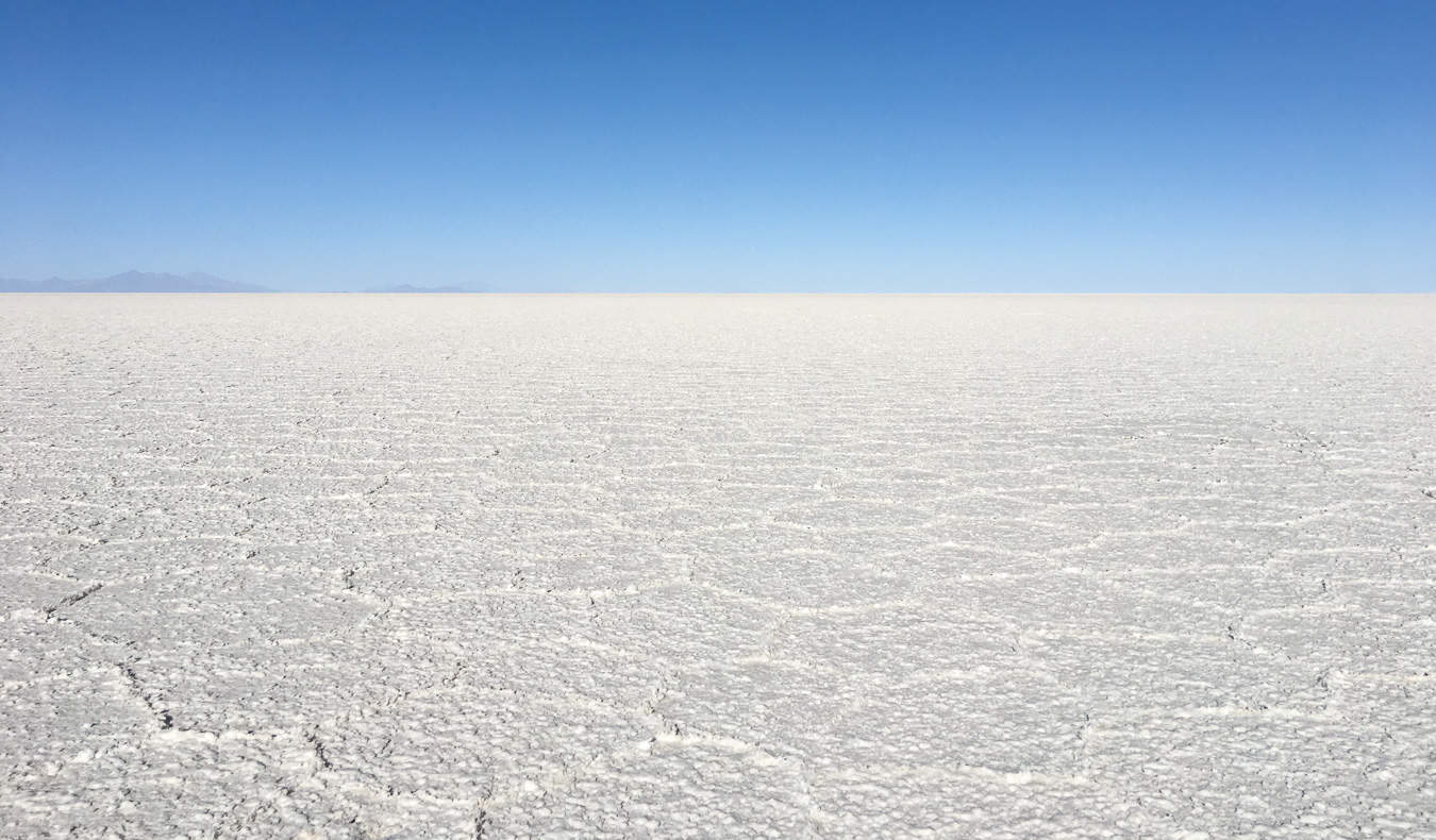 The stunning salt flats in Bolivia, South America