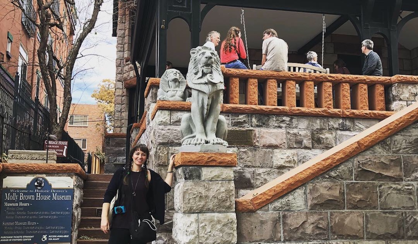 travel community member Allison Broder Molly Brown's House in Denver, 2018