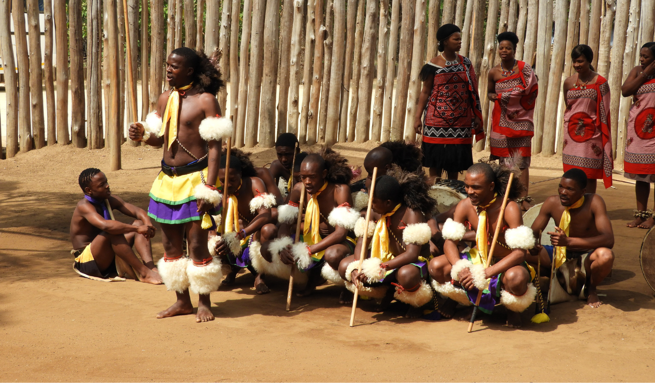watching traditional dance on a trip to South Africa