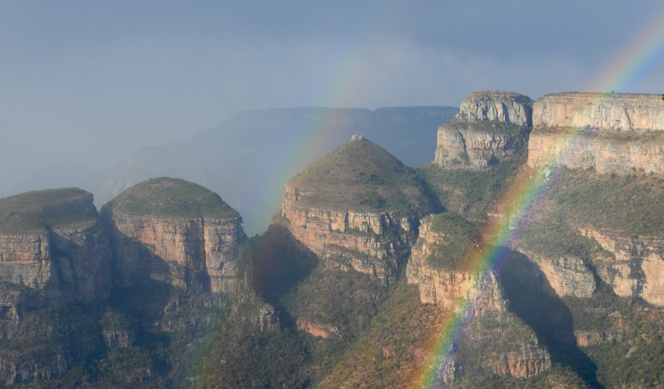 rainbow over mountains in South Africa