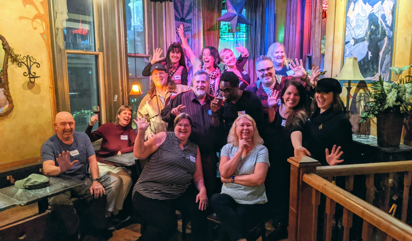 the nomadic network travel community in madison wisconsin at genna's bar