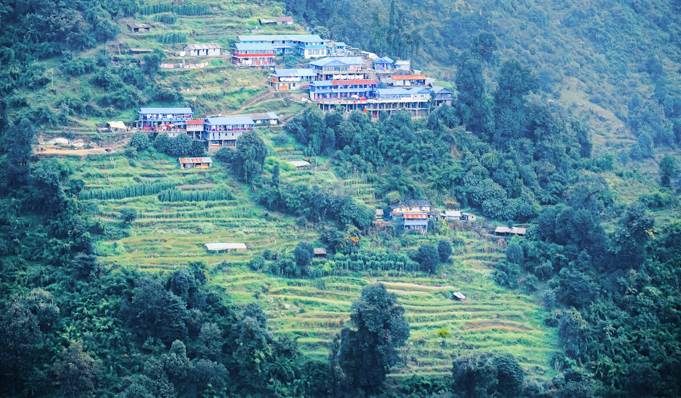 villages on the trek to Annapurna basecamp in Nepal