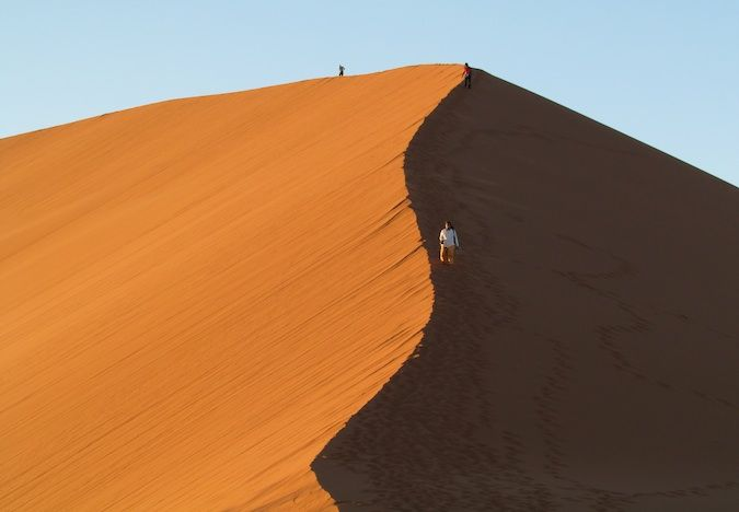 The famous Dune 45 in Namibia, Southern Africa
