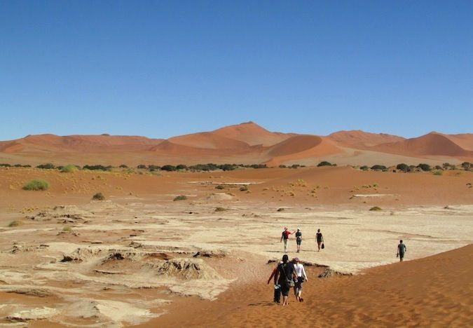 The stunning red dunes of Deadvlei, Namibia