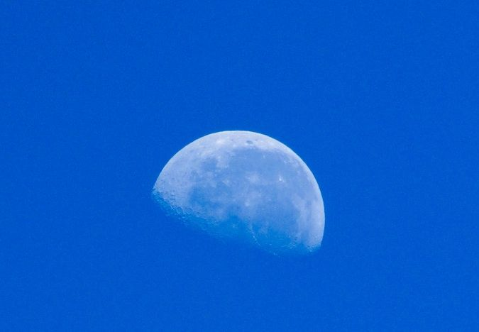The moon from the Namibian desert in Southern Africa. Amazing how clear the sky is at 9 am!