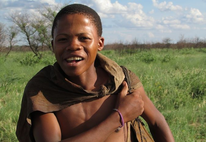A happy bush guy from Botswana