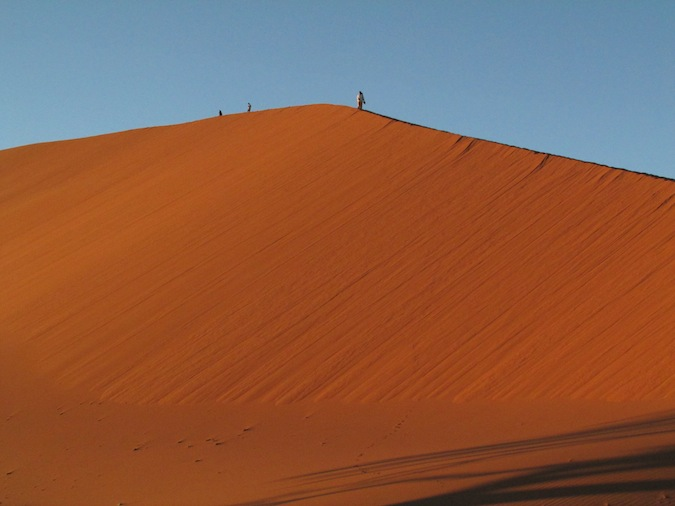Namibia's famous Dune 45 at sunrise
