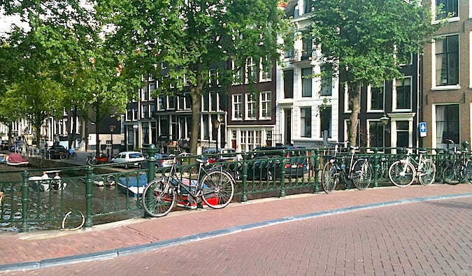 overlooked residential area in amsterdam - jordaan
