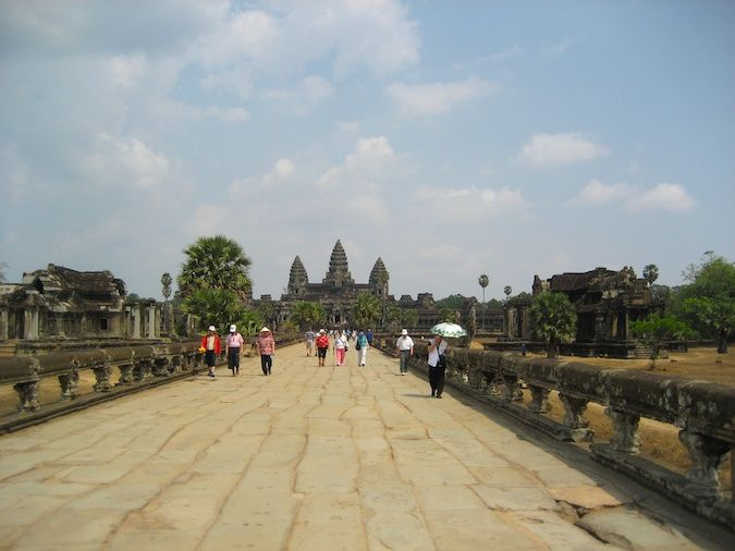 The walkway to Angkor Wat