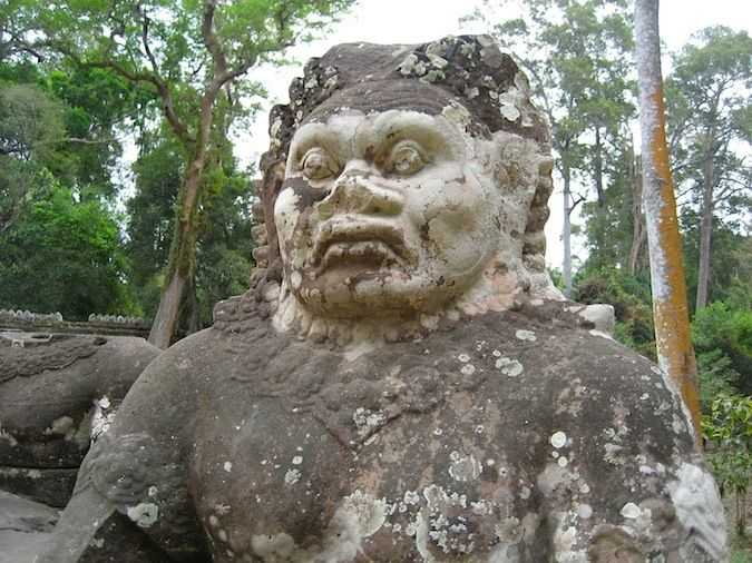 Stone statue in Cambodia keeping watch