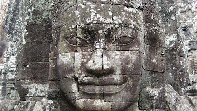 The face of Jayavarman VII at Bayon ruins
