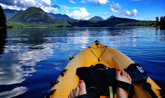 arielle kayaking in beautiful nature