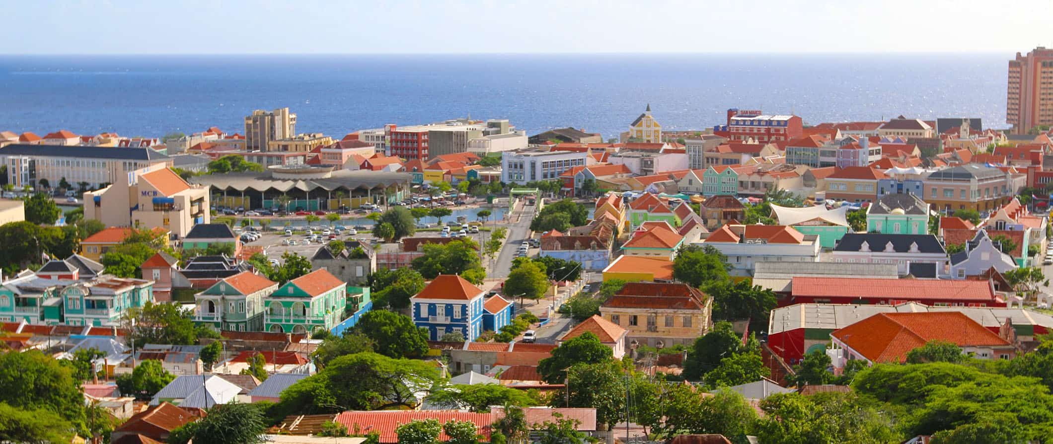 colorful buildings in aruba