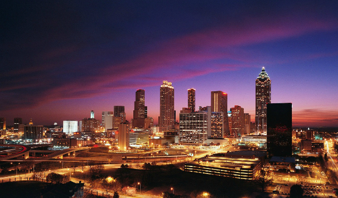 """view of downtown Atlanta"