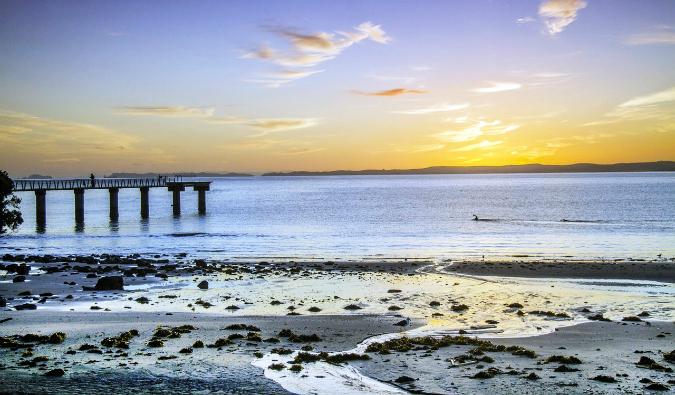 A beach near Auckland