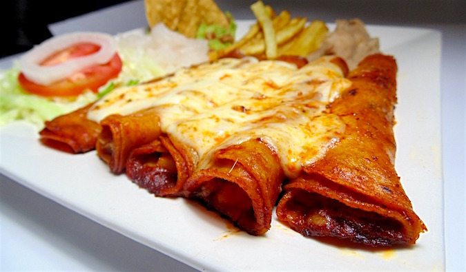 An appetizing enchilada