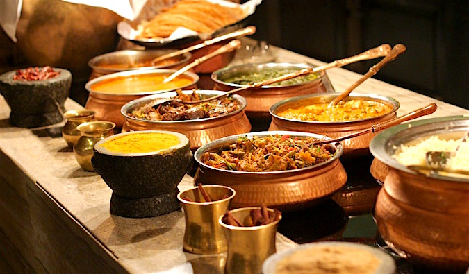 An array of delicious Indian food