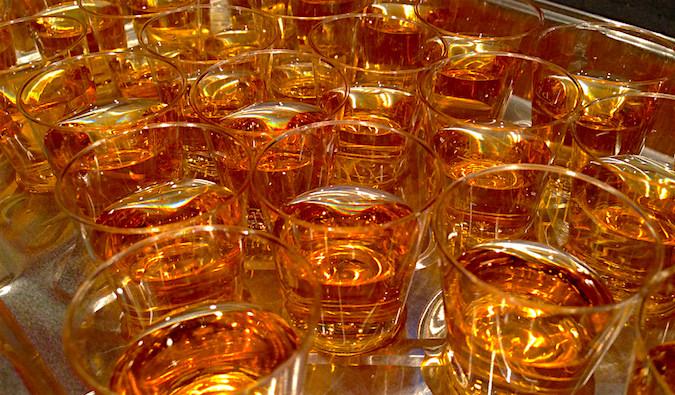 Lots of whiskeys