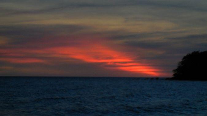 sunset on bamboo island