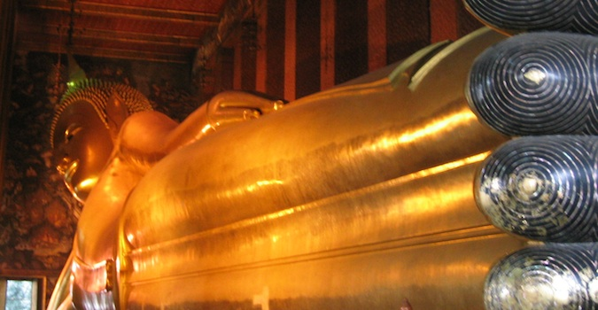 buddha statue's feet in bangkok