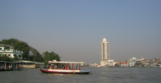 on the river in bangkok, thailand