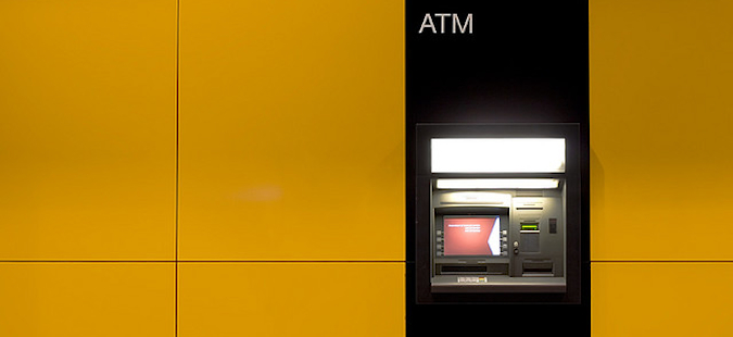 an atm to get money at