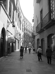 alleys in Barcelona's Bari Gotic