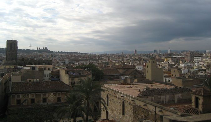 skyline of the bari gotic