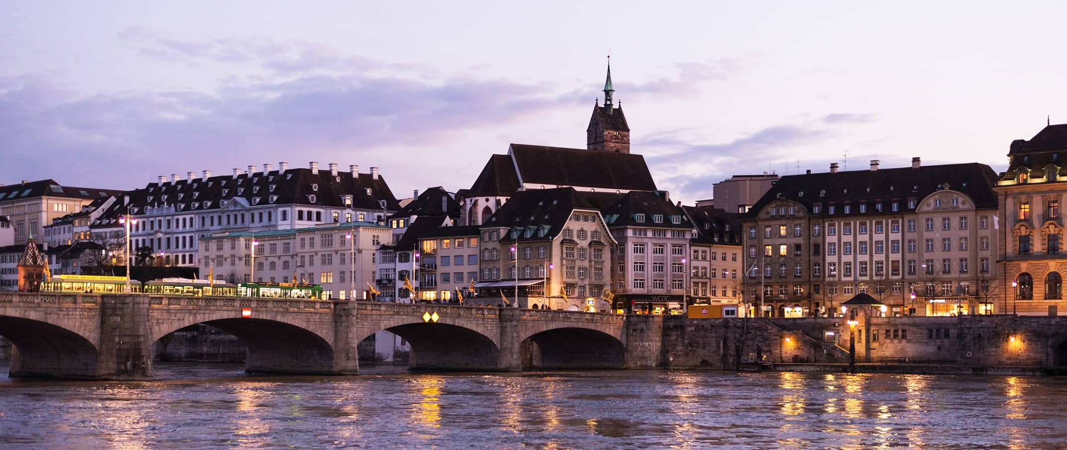 the bridge over the Rhine River, Basel