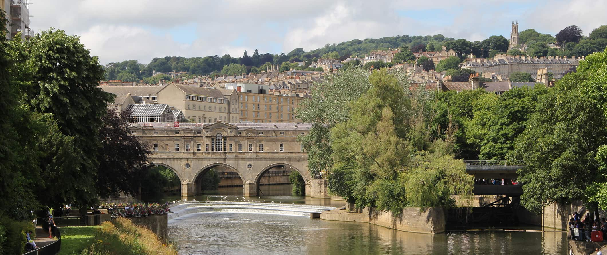 the bridge in Bath, England