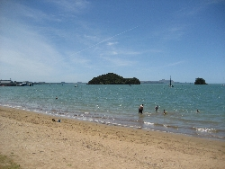 Beaches on The Bay of Islands in New Zealand are beautiful