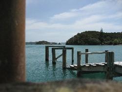 The Bay of Islands pier in New Zealand