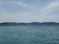 View of The Bay of Islands from afar