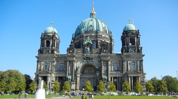 Photos of the massive building called The Dom in the city of Berlin