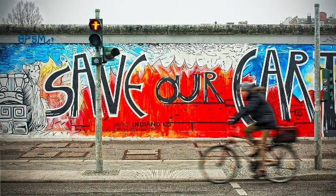 The East Side Gallery in the city of Berlin, Germany