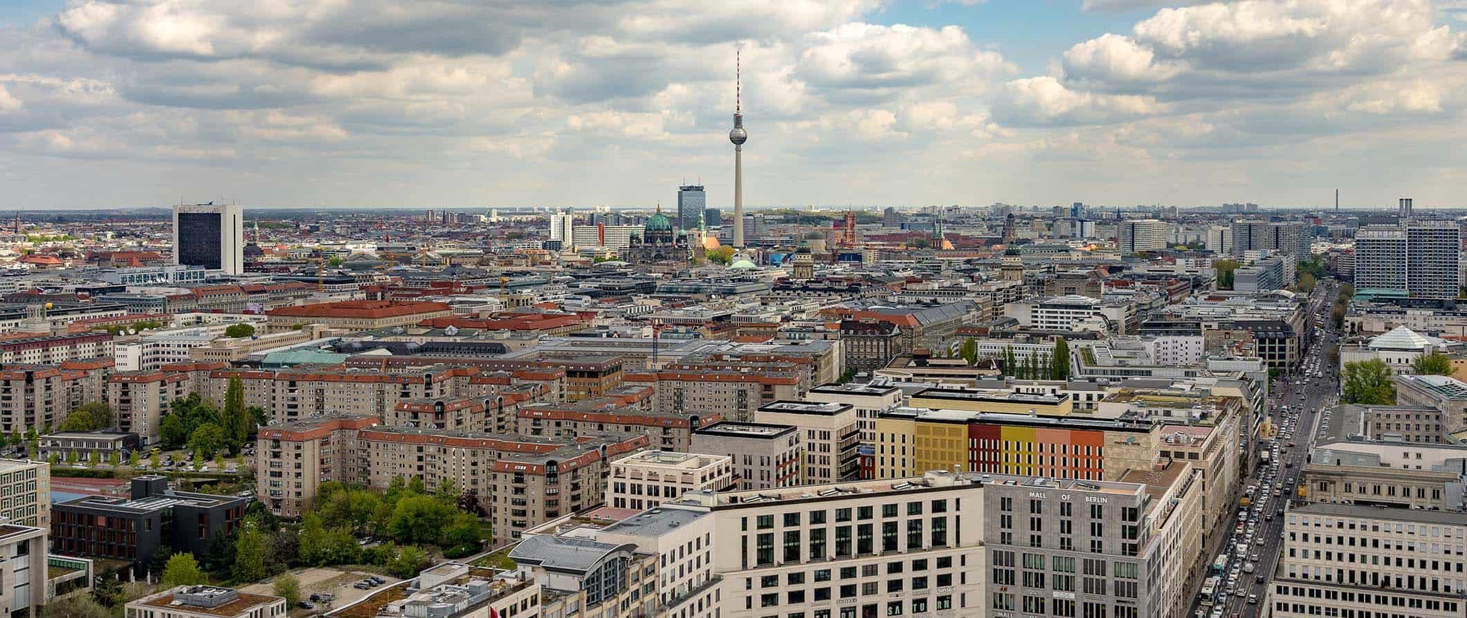 view of Berlin's rooftops and the TV tower