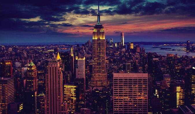 NYC at sundown
