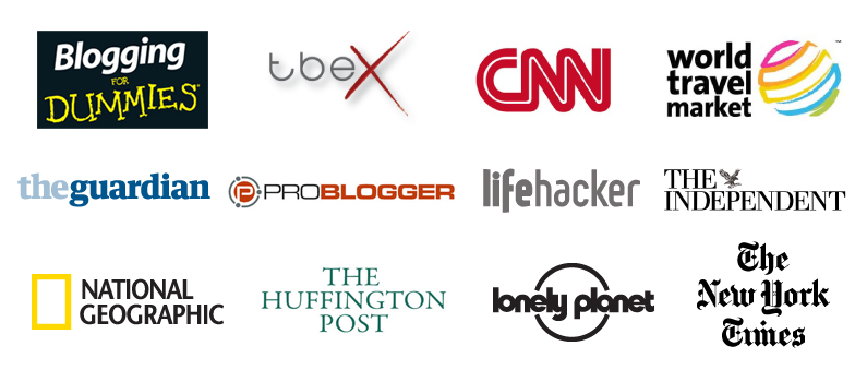 nomadic matt featured logos