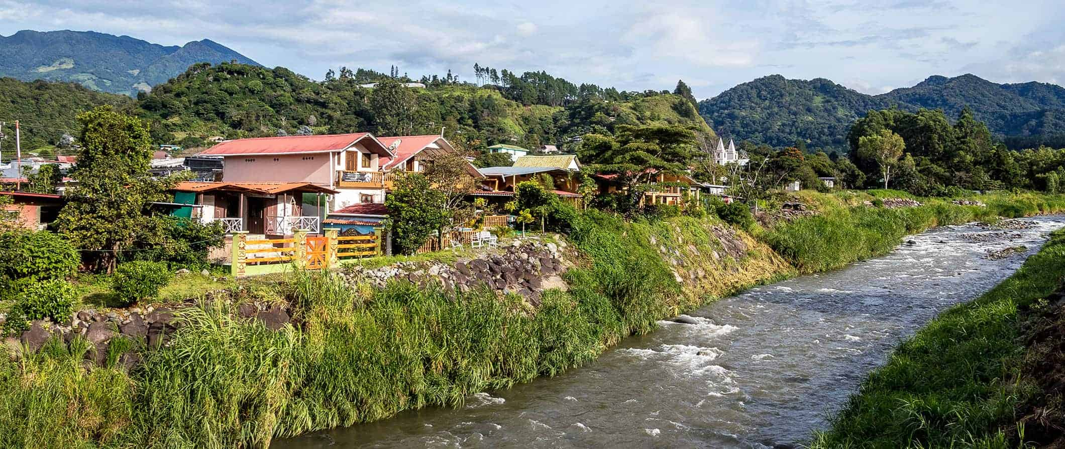 along the river in Boquete