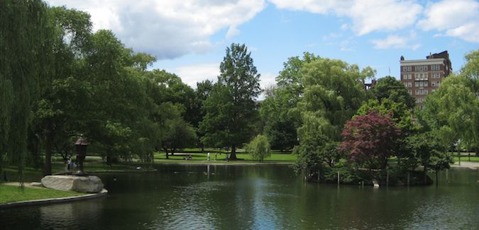 A great place to spend a nice spring day is at Boston's Public Gardens