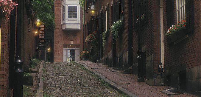 The historic Italian north end of Boston, Massachusetts