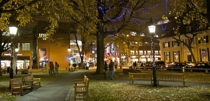 Harvard Square is the place to be at night in Boston