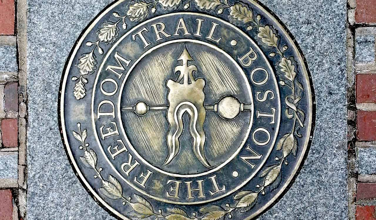 Boston's Freedom Trail sign
