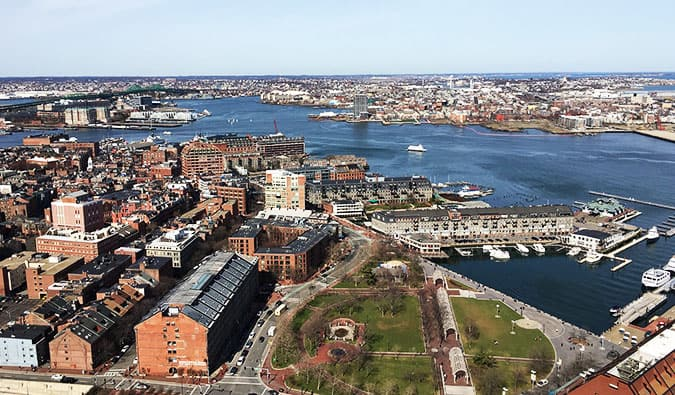 The historic Italian north end of Boston, Massachusetts