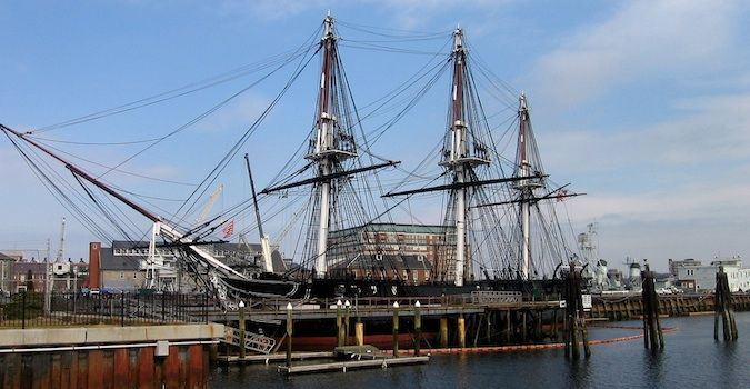 the USS Constitution, nicknamed Old Ironsides