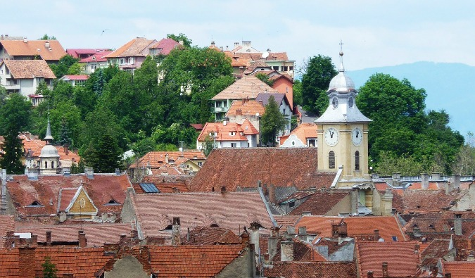 brasov, romania and its skyline