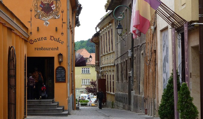 a walking tour in Brasov